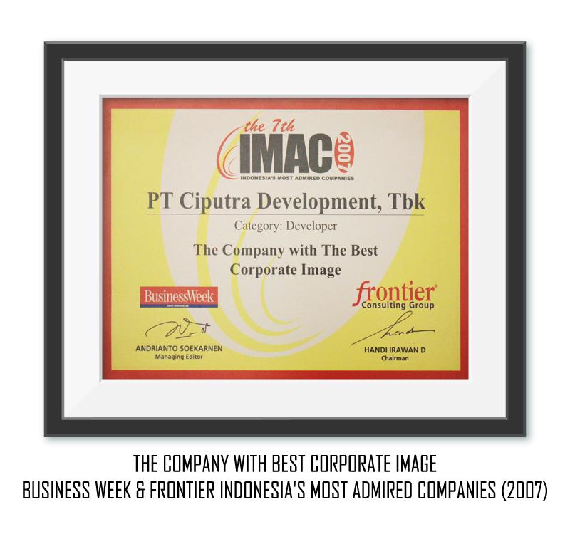 Most Admired 2007 Ciputra Development